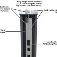 Atlas 408-SL Premium 8,000 Lbs. Capacity Portable Hobbyist 4 Post Lift