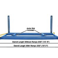Atlas 412 12,000 Lbs. Capacity Commercial Grade 4 Post Lift