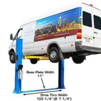 Atlas BP10000 Baseplate 10,000 lbs. Capacity 2 Post Lift