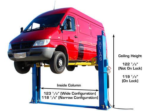 Atlas BP12000 Baseplate 12,000 lbs. capacity 2 Post Above Ground Lift