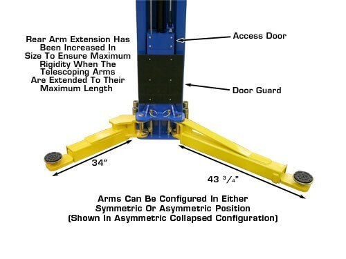 Atlas PV-10P Overhead 10,000 lbs. Capacity Adjustable HeightÊ