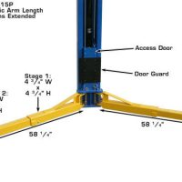 Atlas PV-15P Overhead 15,000 lbs capacity Adjustable Height2 Post Lift (EXTRA WIDE/EXTRA TALL)