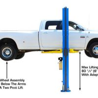 Atlas PV-9HP Overhead 9,000 lb Capacity Adjustable Height2 Post Lift (EXTRA TALL)