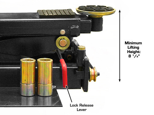 Atlas RJ-6000 Rolling Hydraulic Center Jack 6,000 Lbs Capacityand Truck Adapter Black (Manual)
