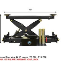 Atlas RJ-8000 Air/Hydraulic Center Rolling Jack 8,000 Lbs. Capacitywith Truck Adapters