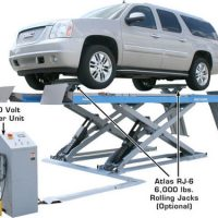 Atlas 12AWFSL 12,000 Lbs. Capacity Alignment Scissor Lift with Wheels-Free System