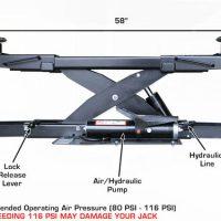 Atlas APEX RJ7 7,000 lbs. Capacity Air/Hydraulic Rolling Jack