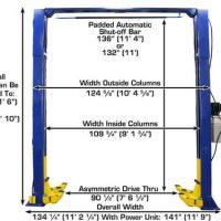 Atlas® 9KOH Overhead 9,000 lbs. Capacity 2 Post Lift