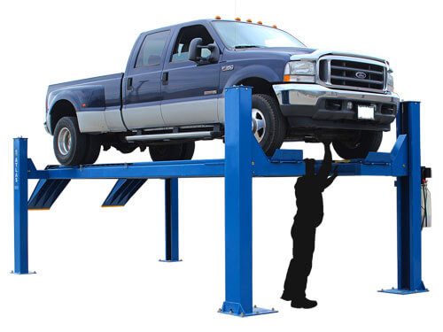 Atlas 14KOF-EXT Garage Pro Open Front 4 Post Alignment Lift(COMMERCIAL GRADE, EXTRA LONG)