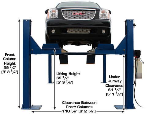 Atlas 14KOF-EXT Garage Pro Open Front 4 Post Alignment Lift(COMMERCIAL GRADE, EXTRA LONG)