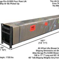 Atlas Garage Pro 8000 Portable Hobbyist 8,000 Lbs. Capacity 4 Post Lift