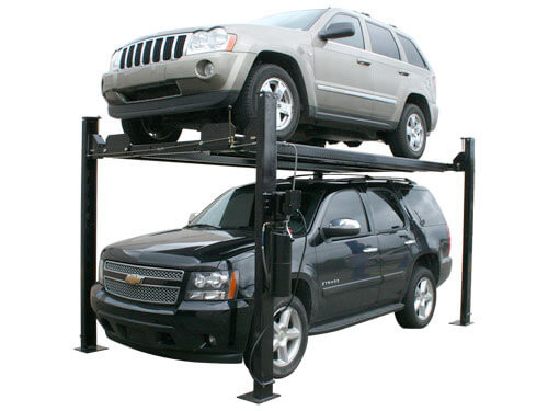 Atlas Garage Pro 8000 EXT Portable Hobbyist 8,000 Lbs. Capacity 4 Post Lift(EXTRA TALL)