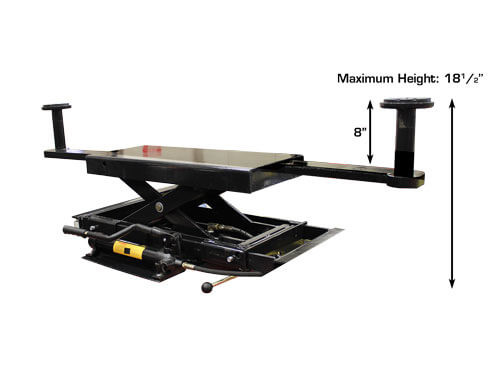 Atlas RJ-45 Rolling Hydraulic Center Jack 4500 Lbs. Capacity and Truck Adapters