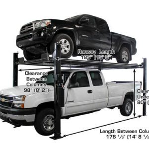 Atlas Garage Pro 8000 EXT-L Portable 8,000 Lbs. Capacity 4 Post Lift(EXTRA TALL, EXTRA LONG)