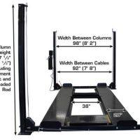Atlas Garage Pro 8000 EXT-L Portable 8,000 Lbs. Capacity 4 Post Lift(EXTRA TALL, EXTRA LONG)